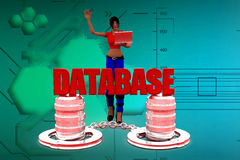 3d women database illustration Royalty Free Stock Photo