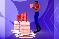 3d women database illustration Stock Images