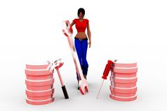 3d women  database Royalty Free Stock Images