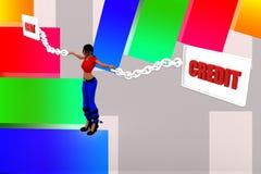 3d women debit  credit illustration Royalty Free Stock Image