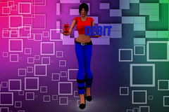 3d women  debit Stock Image