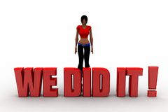 3d women we did it Royalty Free Stock Image