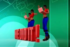 3d women we did it illustration Stock Photo