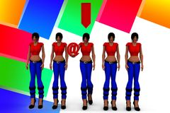 3d Women Download Royalty Free Stock Images