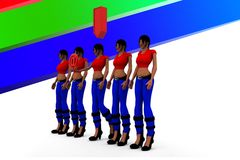 3d Women Download Royalty Free Stock Photos