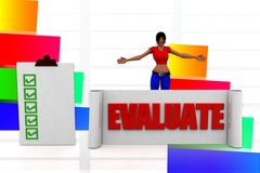 3d women evaluation illustration Stock Photo