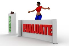 3d women evaluation Royalty Free Stock Images