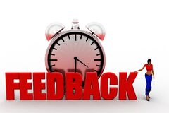 3d Women feedback concept Royalty Free Stock Photography