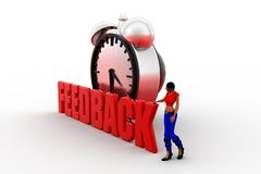 3d Women feedback concept Stock Images