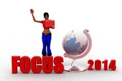 3d Women Focus 2014 Stock Photos