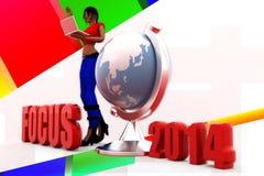 3d Women Focus 2014 Stock Images
