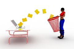 3d women folder recycling Royalty Free Stock Images