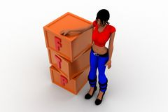 3d women ftp Royalty Free Stock Photo