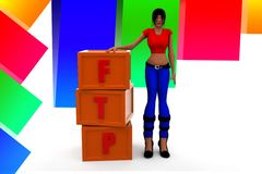 3d women ftp illustration Royalty Free Stock Photos