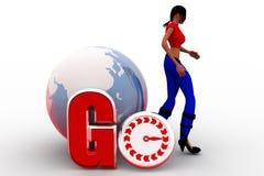 3d women go concept Stock Image