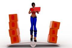 3d women good bad illustration Stock Photography
