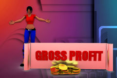 3D women gross profit illustration Stock Image
