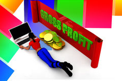 3D women gross profit illustration Stock Image