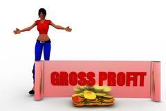 3D women gross profit illustration Stock Photography