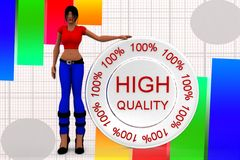 3d women high quality illustration Royalty Free Stock Images