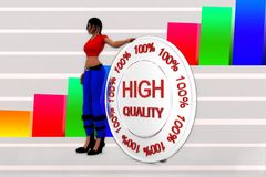 3d women high quality illustration Stock Images