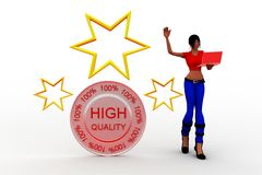 3d women high quality with stars Stock Photos