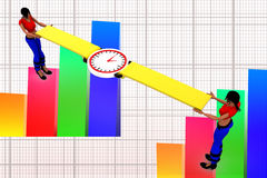 3d Women Holding Watch illustration Royalty Free Stock Photography