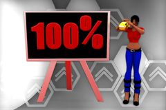 3d women 100% illustration Stock Photography