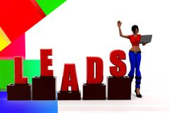 3d women leads illustration Royalty Free Stock Photography