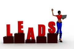 3d women leads Stock Image