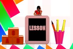 3d Women Lesson  illustration Royalty Free Stock Photography