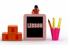 3d Women Lesson  illustration Royalty Free Stock Images
