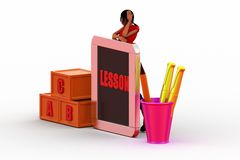 3d Women Lesson  illustration Royalty Free Stock Image