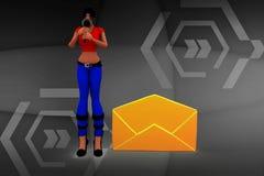 3d Women Letter Message Stock Images