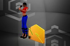3d Women Letter Message Royalty Free Stock Photo