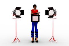 3d Women Light Studio Stock Photos