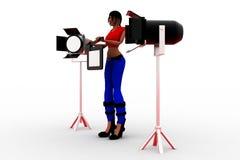3d Women Light Studio Stock Photography