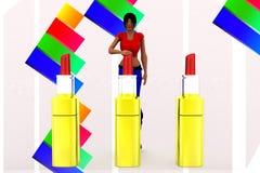 3d Women Lipstick  Illustration Royalty Free Stock Image