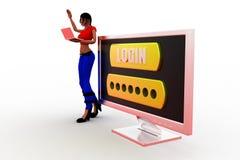 3d women login Stock Image