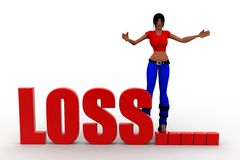 3d Women Loss Royalty Free Stock Images