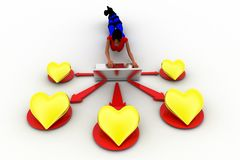 3d women love concept Royalty Free Stock Photography