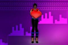 3d women love illustration Stock Image