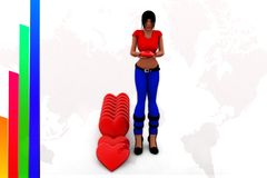 3d women love illustration Royalty Free Stock Images