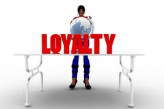3d women loyalty concept Stock Photography