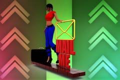 3d Women Mail me illustration Stock Image