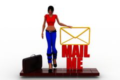 3d Women Mail me Stock Images