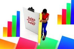 3d women 100 mark illustration Stock Photos