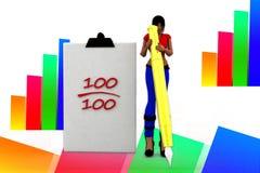 3d women 100 mark illustration Stock Images