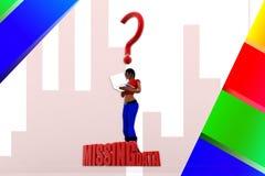 3d women missing data illustration Royalty Free Stock Photos