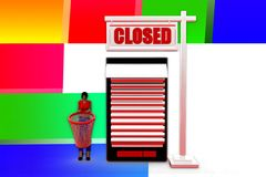 3d women mobile closed illustration Stock Photography